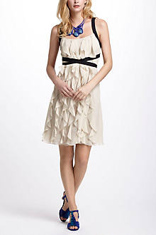Banded Ruffles A-Line Dress