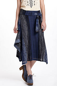 Indigo Striations Sweater Skirt