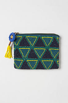 Small Fractal Beaded Pouch