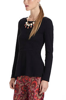 Bow-Back Peplum Blouse
