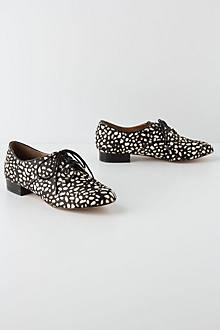 Speckled Pony Hair Oxfords
