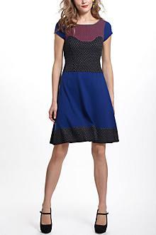 Intarsia Dotted Sweater Dress