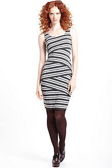 Tinsel Stripe Column Dress