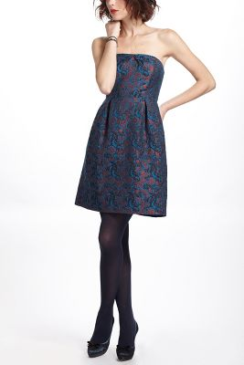 Anthropologie Paprika Brocade Dress