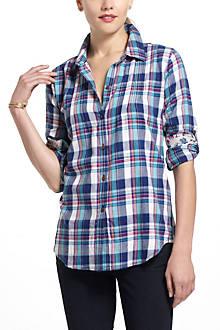 Pintucked Flannel Buttondown