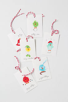 Cozy Feathers Gift Tags