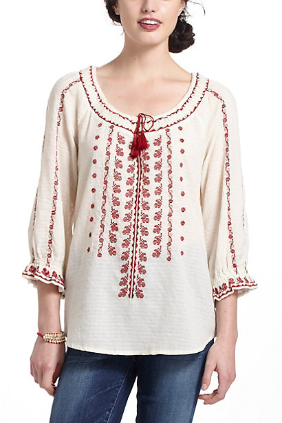 Miriam Embroidered Peasant Blouse 94