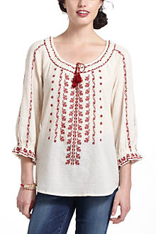 Miriam Embroidered Peasant Blouse
