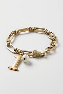Vintage Number Charm Bracelet