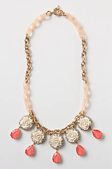 Glinted Tea Rose Necklace