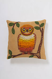 Retro Owl Pillow