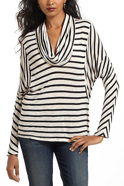 Striped Cowlneck Dolman  :  long sleeve dolman
