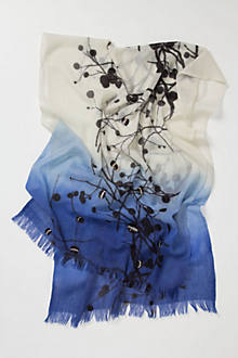 Sequined Branches Ombre Scarf