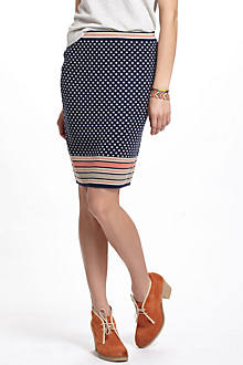Dotted Jacquard Sweater Skirt