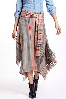 Converged Stripes Sweater Skirt