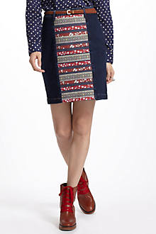 Holding Horses Ribbonrow Denim Skirt
