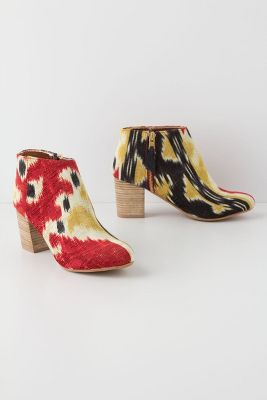 Anthropologie Ikat Ankle Boots