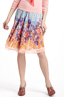 Stained Glass Garden Circle Skirt