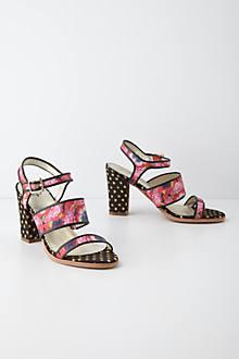 Petunia Print Sandals