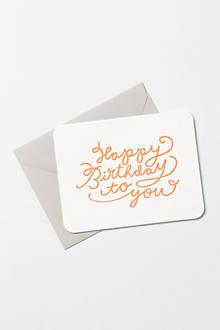 Happy Birthday Neon Card