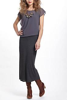 Chiffon & Jersey Draped Maxi Dress