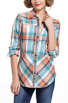 Seamed Plaid Tunic