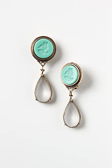 Carved Cameo Drops