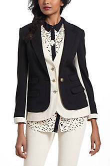 DOUBLE LAYER KNIT BLAZER