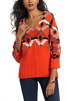Cadmium Geometry Sweater