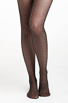 Monochrome Swiss Dot Tights
