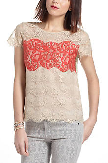 Colorblock Lace Tee