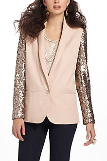 SEQUIN SLEEVE BLAZER