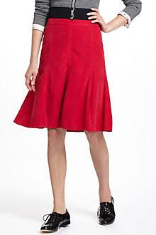 Corduroy Godet Skirt