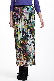 Flowerfield Pleated Maxi Skirt