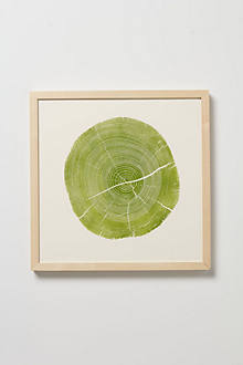 Woodcut Print, Green Locust