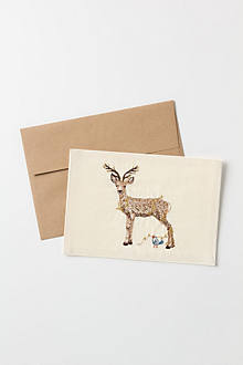 Embroidered Deer Card