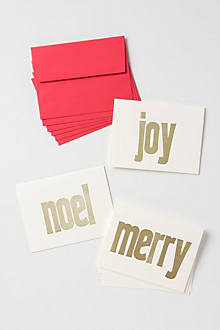 Merry Joy Noel Blockprinted Cards