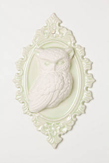 Molded Owl Wall Curio