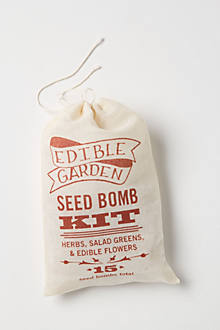 Garden Seed Bomb Kit: Herbs, Salad Greens & Edible Flowers