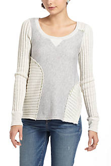 Cross-Stitch Sectioned Pullover