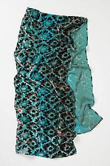 Marmara Tile Burnout Velvet Scarf