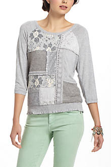 Patched Lace Sweatshirt
