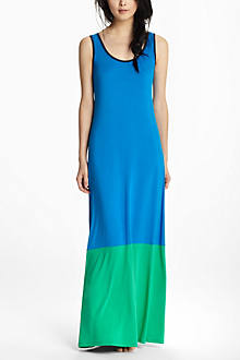 Dip-Dyed Colorblock Maxi Chemise