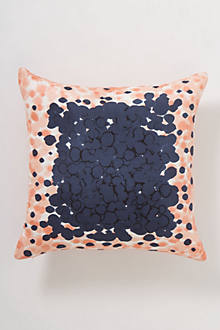 Peach Dip-Dot Pillow