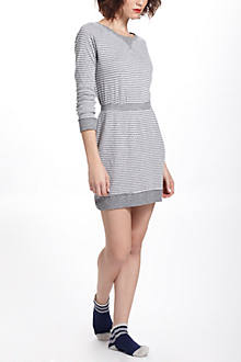 Pinstriped Boatneck Chemise