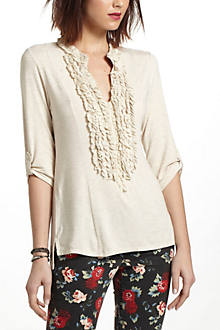 Ruffled Jersey Pullover