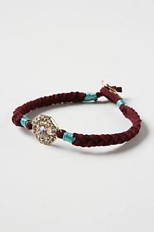 Suede Brooch Bracelet