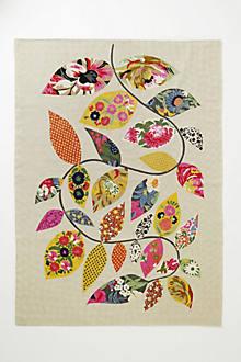 Embroidered Herati Vine Rug