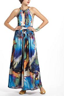 Tropicalia Pleated Maxi Dress