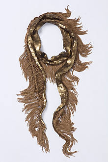 Gilt Fringe Cocktail Scarf